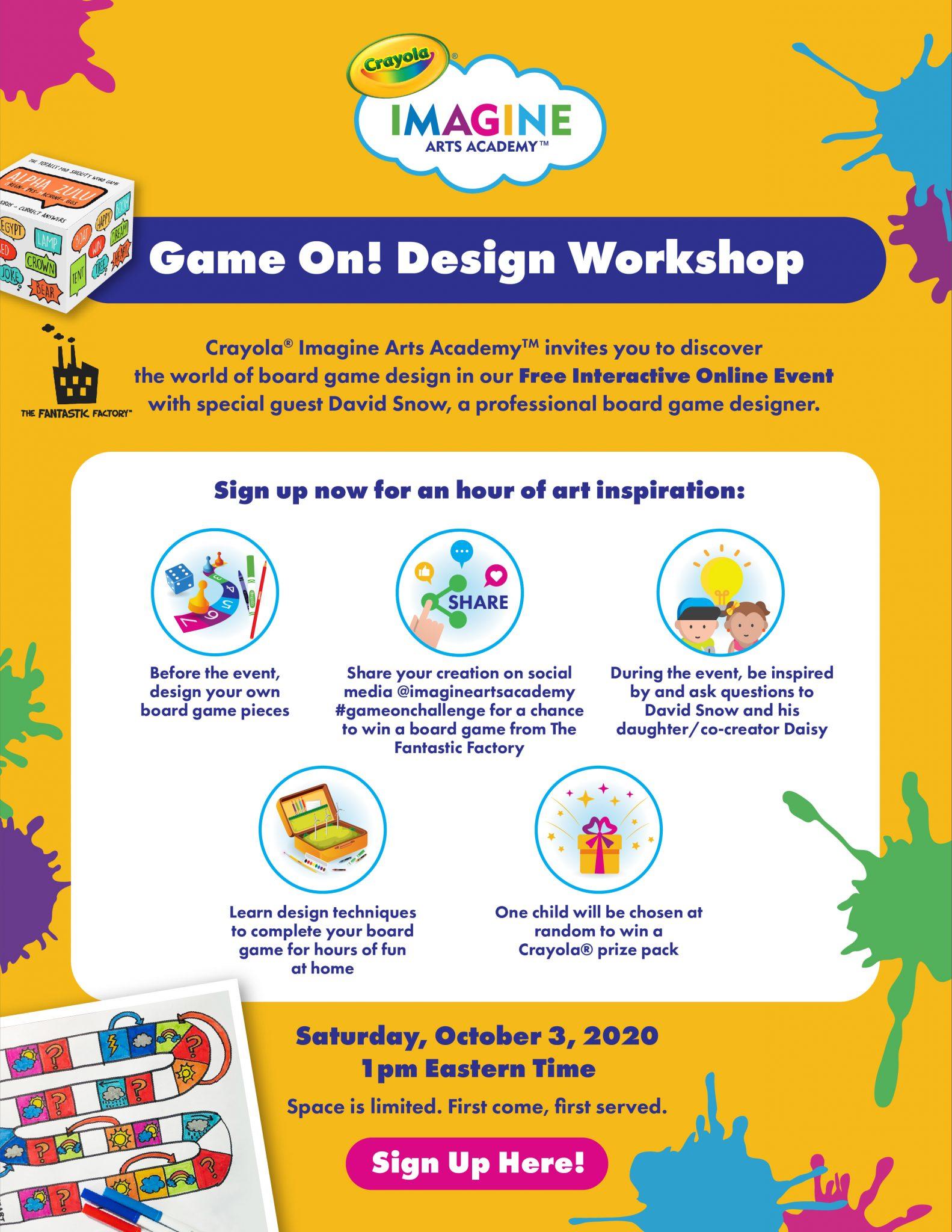 Crayola Board Game Design Event