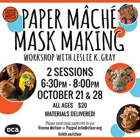 Paper mache mask making