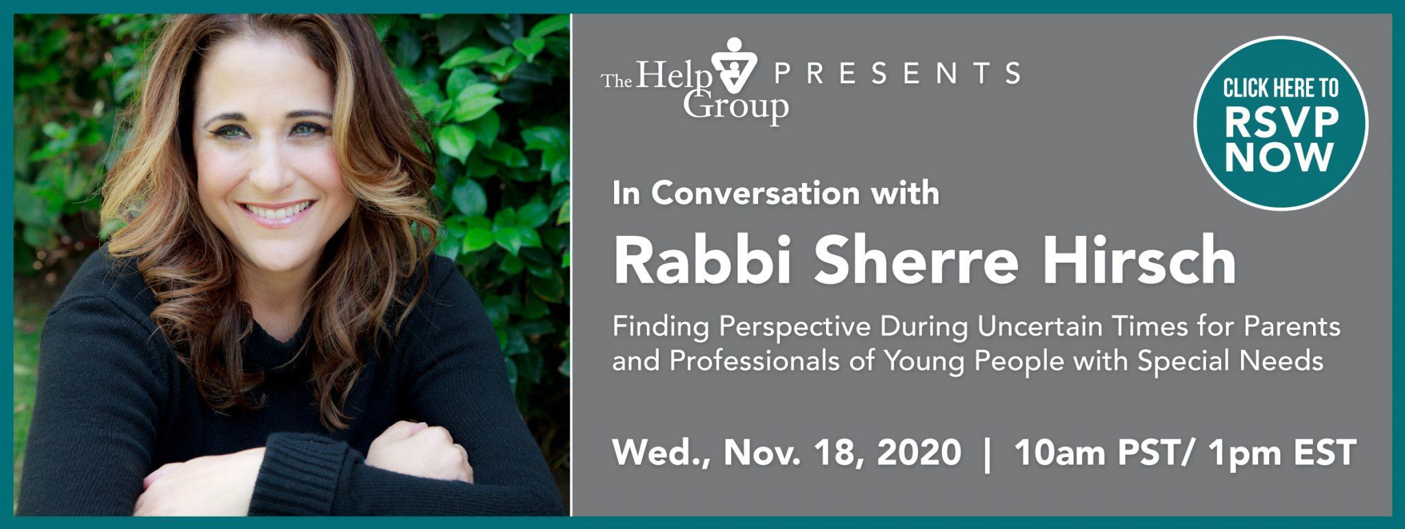 Webinar: In Conversation With Rabbi Sherre Hirsch