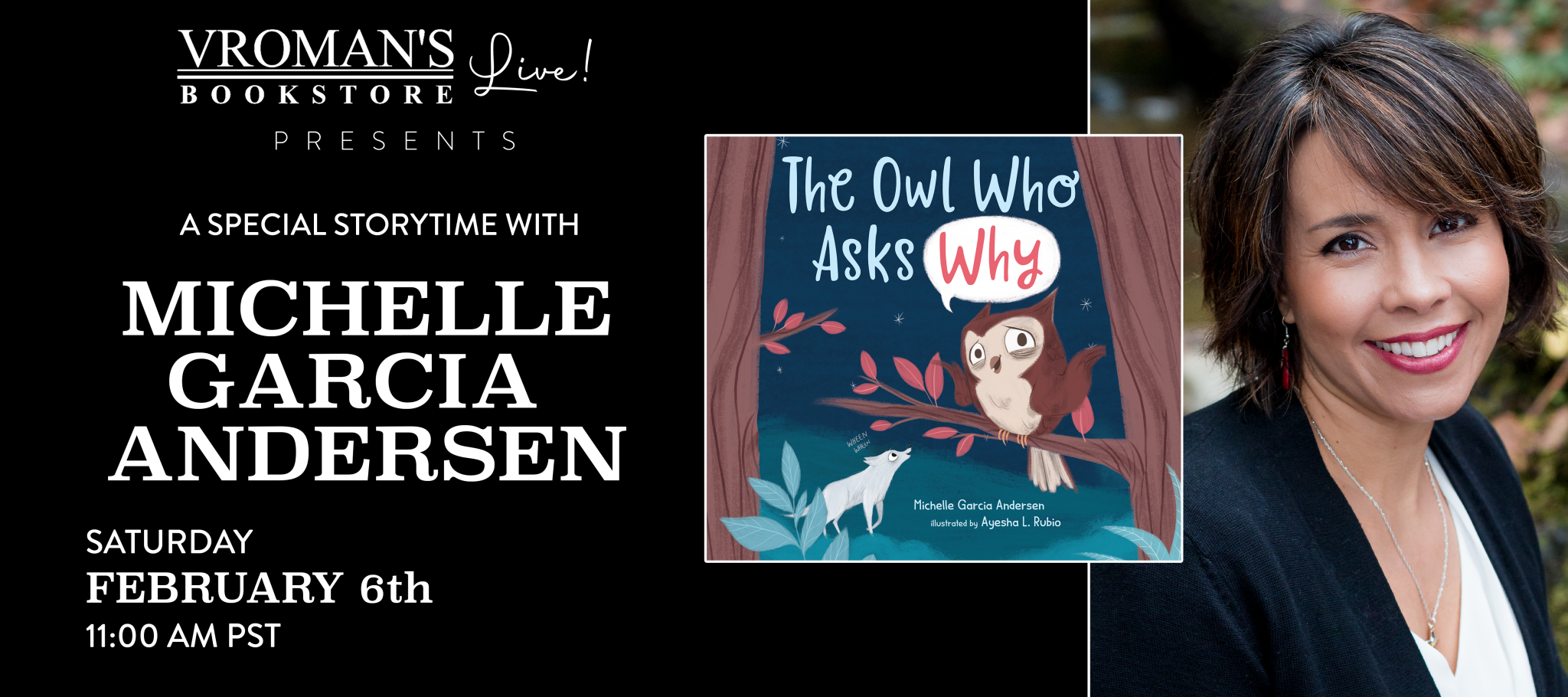 Vroman's Story Time 'The Owl Who Asks Why'