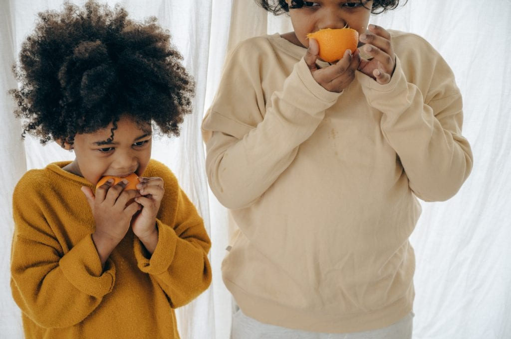 healthier family eating