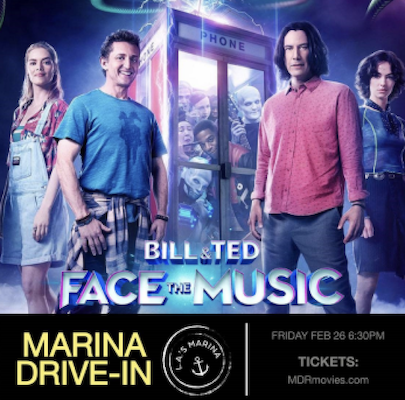 'Bill and Ted Face the Music' at the Marina Drive-In
