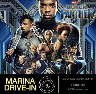 'Black Panther' at the Marina Drive-In