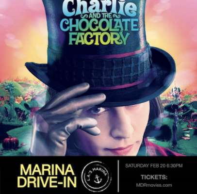 'Charlie and the Chocolate Factory' at the Marina Drive-In