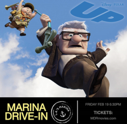 'UP' at the Marina Drive-In