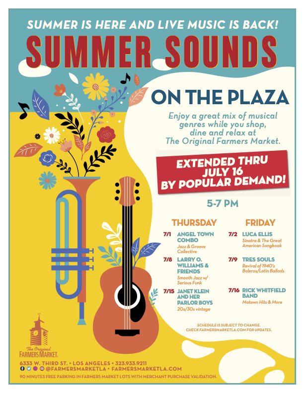 87th Anniversary Event: Summer Sounds on the Plaza at The Original Farmers Market