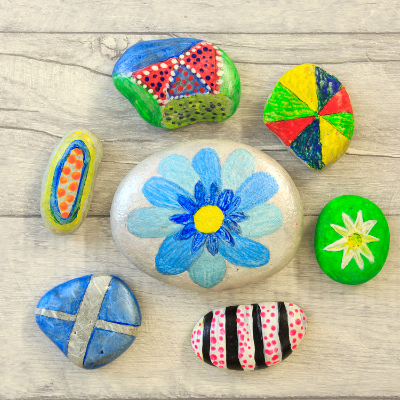 Sketches & More: Painting Garden Stones
