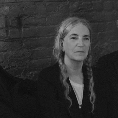Patti Smith with Jackson Smith and Tony Shanahan